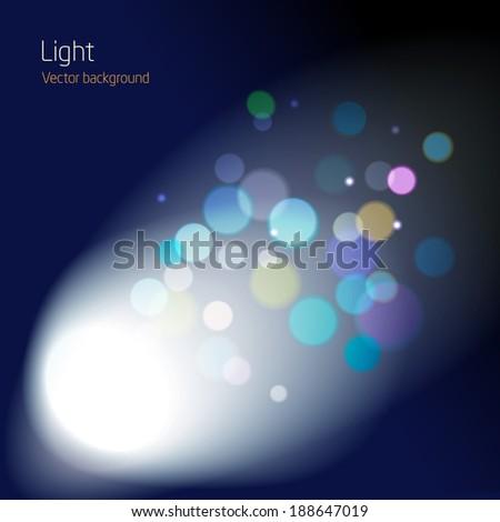 cinema lens blur space - abstract background design - vector - stock vector