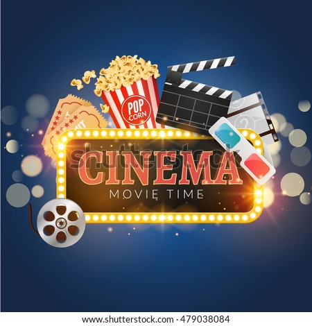 cinema movie vector poster design template stock vector royalty