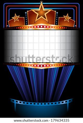 Cinema poster - stock vector