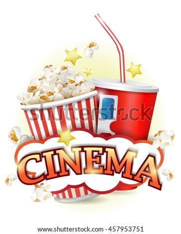 Cinema Poster Design Template - stock vector
