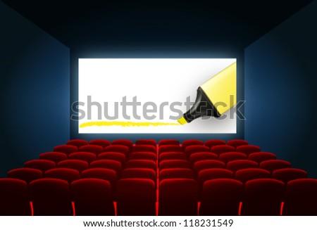 cinema screen abstract background. vector design - stock vector