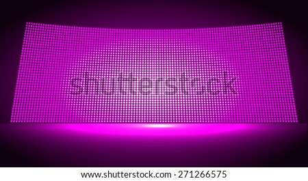 cinema screen for movie presentation. Light Abstract Technology background for computer graphic website internet and business. dark purple background. Pixel, mosaic, table. point, spot, dot - stock vector
