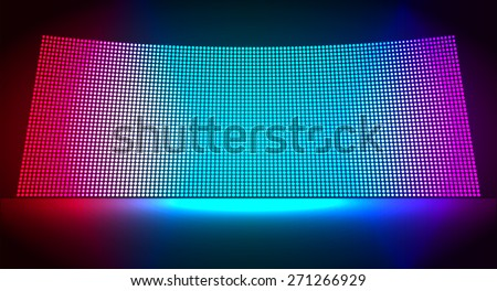 cinema screen for movie presentation. Light Abstract Technology background for computer graphic website internet and business. dark red blue purple background. Pixel, mosaic, table. point, spot, dot - stock vector