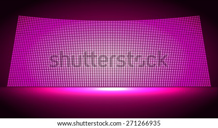 cinema screen for movie presentation. Light Abstract Technology background for computer graphic website internet and business. pink background. Pixel, mosaic, table. point, spot, dot - stock vector