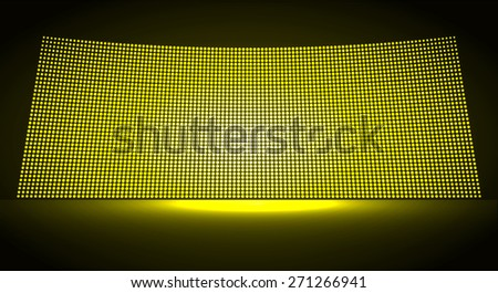 cinema screen for movie presentation. Light Abstract Technology background for computer graphic website internet and business. dark yellow background. Pixel, mosaic, table. point, spot, dot - stock vector