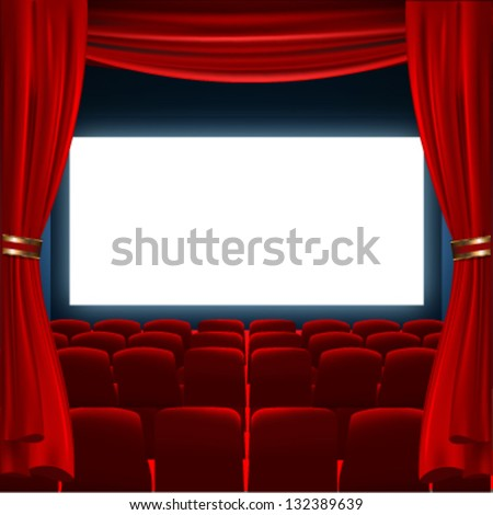 cinema screen to place your concept. vector design - stock vector