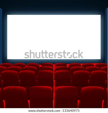 cinema screen  to place your concept. vector design - stock vector