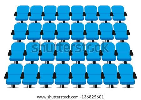 Cinema seats vector on white - stock vector