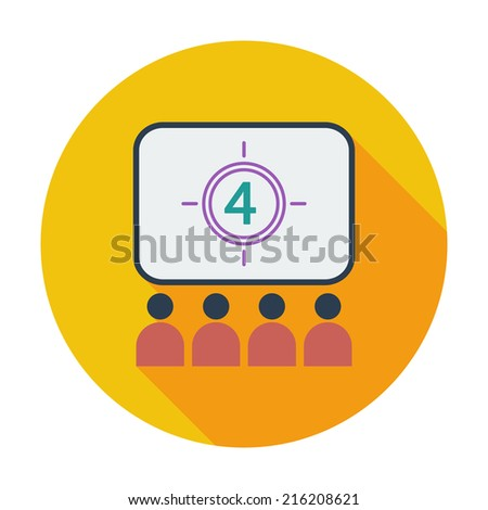 Cinema. Single flat color icon. Vector illustration. - stock vector