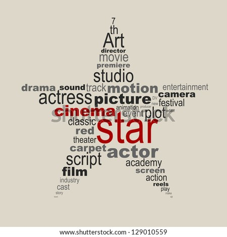 Cinema star concept - stock vector