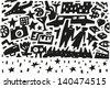 cinema stars - illustration - stock vector