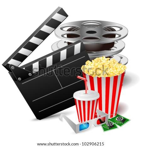 Cinema. Vector illustration - stock vector