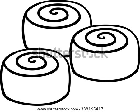 cinnamon rolls stock vector 338165417 shutterstock rh shutterstock com cinnamon bun clipart