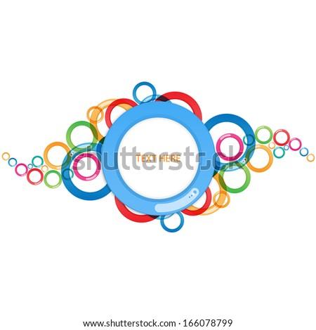 Circle Abstract design - stock vector