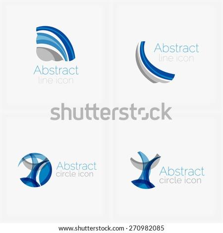 Circle abstract shape logo. Vector illustration - stock vector