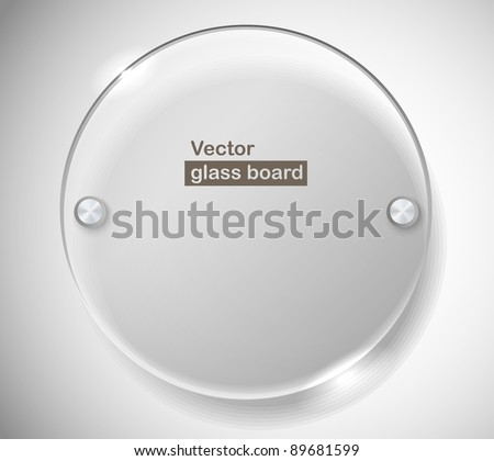 Circle advertising glass board. Place your text - stock vector