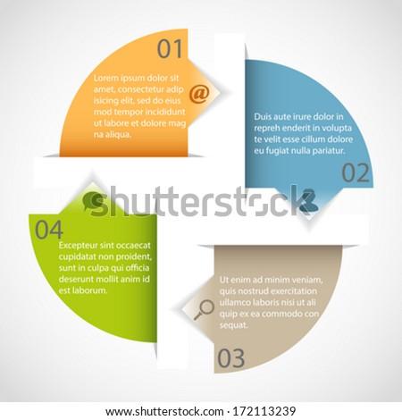 Circle arrow multicolor infographic template - stock vector