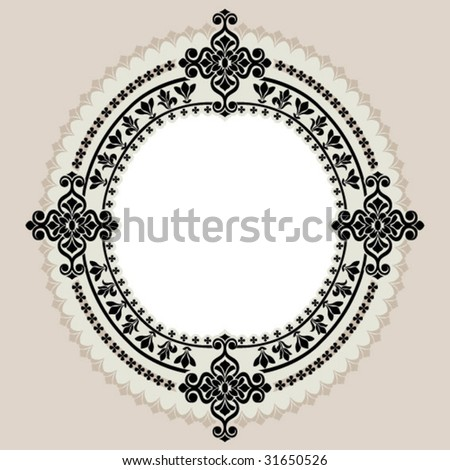 circle border ornament - stock vector