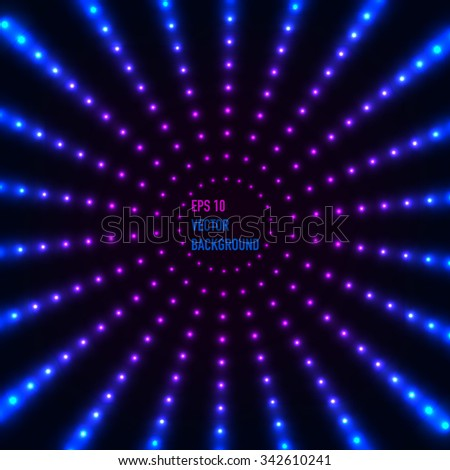 Circle border with neon light effects. - stock vector