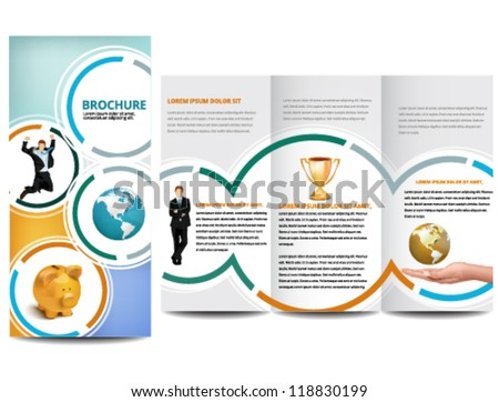 Circle Brochure design - stock vector