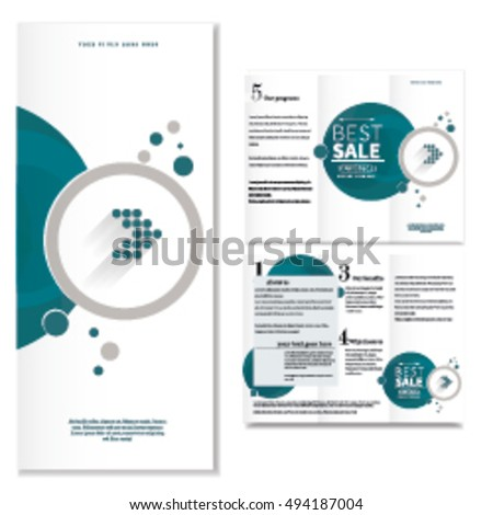 Circle Brochure Design Template Stock Vector 2018 494187004