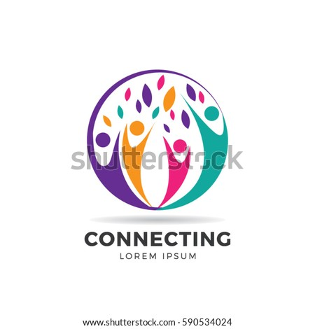 Circle Colorful Community Logo Symbol Stock Vector ...
