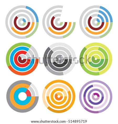 Circle diagram for infographic. Template for round chart, cycling diagram, graph, presentation etc