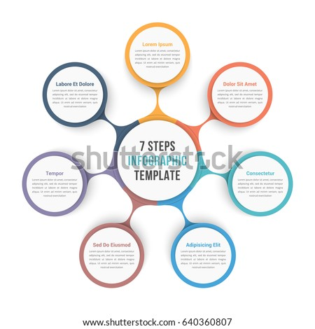 Circle diagram infographic template seven steps stock vector circle diagram infographic template seven steps stock vector 640360807 shutterstock ccuart Images