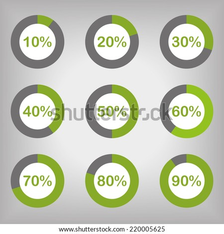 Circle Diagram Pie Charts Infographic Elements - stock vector