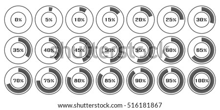 Circle diagram pie charts infographic elements stock vector circle diagram pie charts infographic elements progress wheel vector illustration display of waiting time load ccuart Images