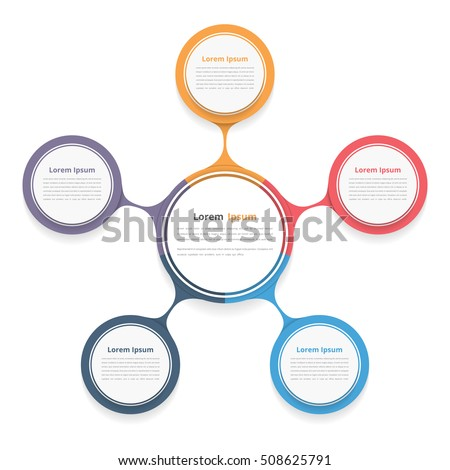 Circle diagram five elements steps options stock vector 508625791 circle diagram with five elements steps or options flowchart or workflow diagram template ccuart Choice Image