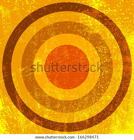 Circle Grunge Background - target theme. EPS10 vector. - stock vector
