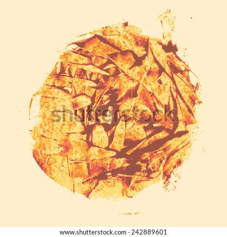 circle grungy blot, grunge texture. vector illustration - stock vector