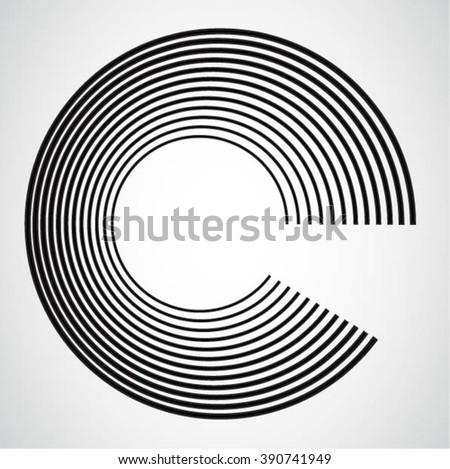 Circle Icon . Circle Icon Design .Circle Icon Vector . Circle Icon Line . Abstract Circle Icon . Circle Icon Geometry . Circle Icon Modern . Circle Icon Stripe . Circle Logo Icon. Circle Icon Art . - stock vector