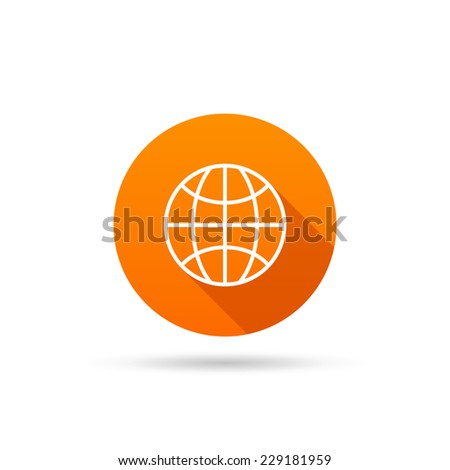 Circle icon globe on a white background. Vector illustration - stock vector