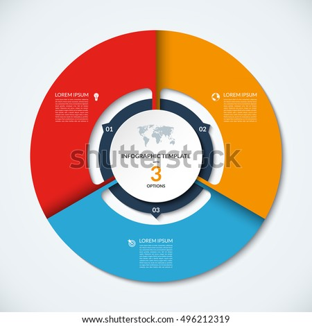 vector infographic circle template graph cycling stock vector 330355529 shutterstock. Black Bedroom Furniture Sets. Home Design Ideas