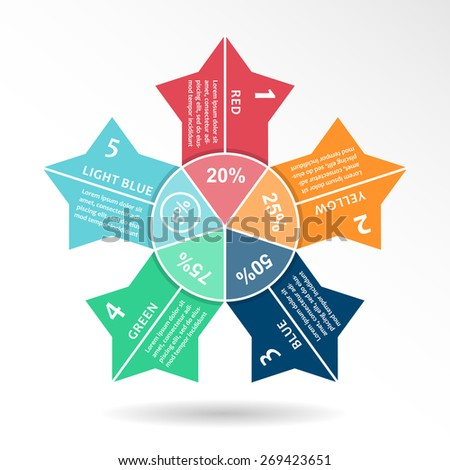 Circle infographic vector arrows. Business template, charts, graphs, presentation, web design scheme. Abstract concept of color elements, background and idea - stock vector