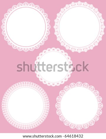 circle lace - stock vector