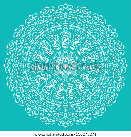 Circle lace ornament