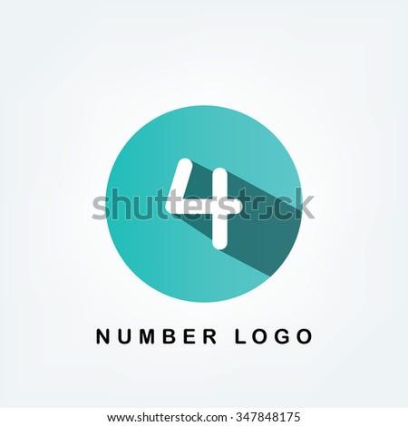 circle logo,4 - stock vector