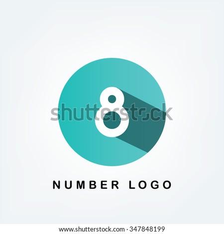 circle logo,8 - stock vector