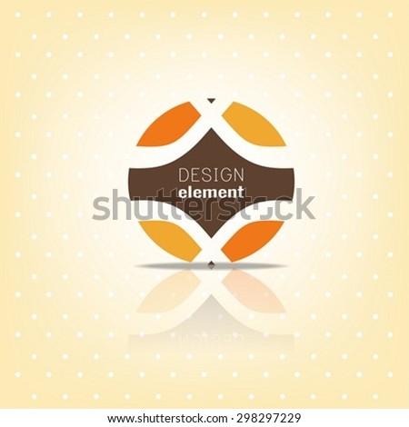 Circle Logo Design template,retro style - stock vector