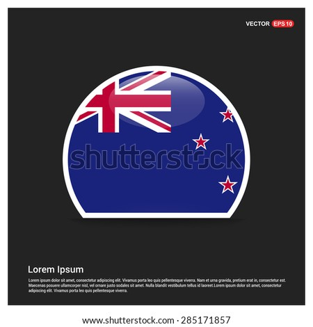 Circle new zealand flag sticker