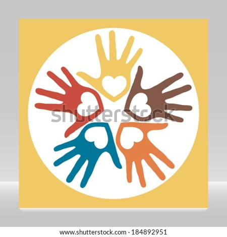 Circle of loving hands.