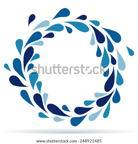 Circle of water drops - stock vector