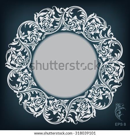 circle ornament  frame, vector illustration - stock vector