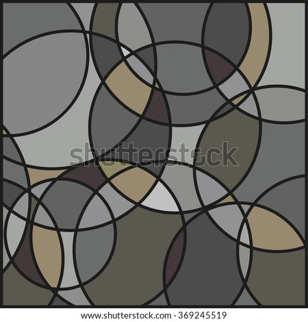 circle pattern background - stock vector