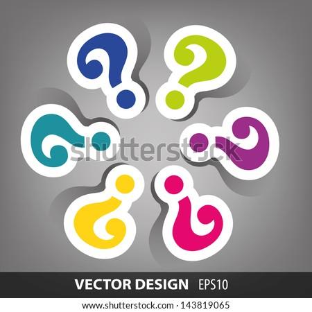 circle question mark design - stock vector