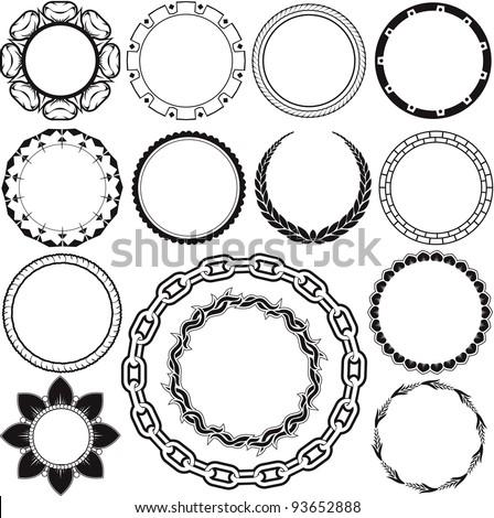Circle & Ring Designs - stock vector