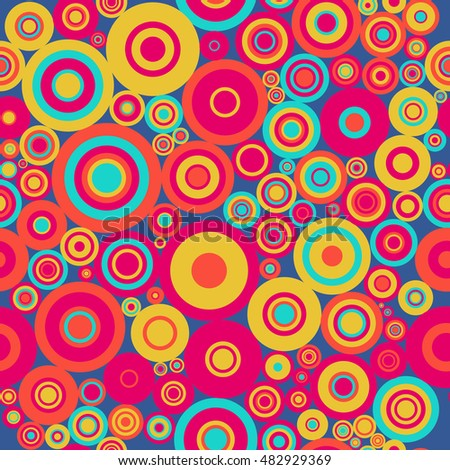 Circle seamless pattern. Abstract background.